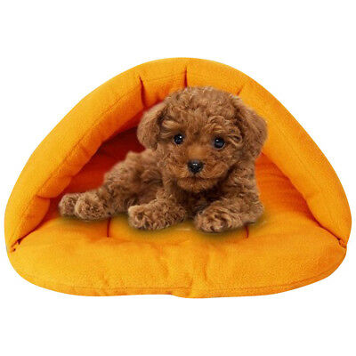 Pet Bed Kennel Puppy Dog Cat Nest Cave Soft Warm Indoor House Sleeping Bag Mat