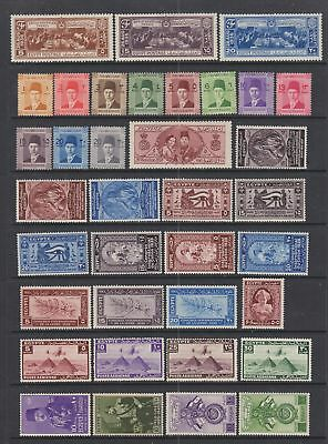 Egypt 1936 - 1949 Mint hinged collction , 63 stamps.