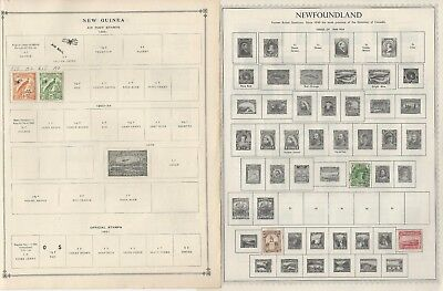 New Guinea, Newfoundland, New Zealand Collection 15 Minkus & Scott Pages