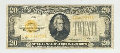 $20 Series 1928 Gold Certificate in nice circulated condition - no reserve