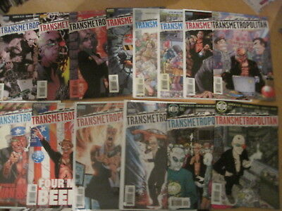 TRANSMETROPOLITAN : BUNDLE of 31 ISSUES of 1997 VERTIGO SERIES by WARREN ELLIS
