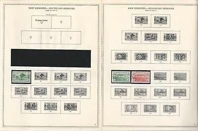 New Hebrides - French & British 1908-1979 on 40 Minkus Specialty Pages