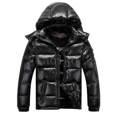 e63fa038a99 MENS 90% DUCK down coat Thicken puffer hooded Down Jacket waterproof Black  coats