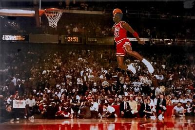 "MICHAEL JORDAN Dunk From The Foul Line Poster  36"" x 24""  FREE USA SHIP 50700"