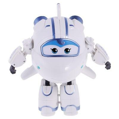 Super Wings Transforming Airplane Robot Animation Figure Kids Toy Gift White