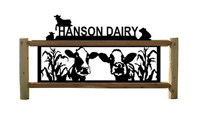 Holstien Dairy Cattle - Cows - Farm & Ranch - Clingermans Log Signs