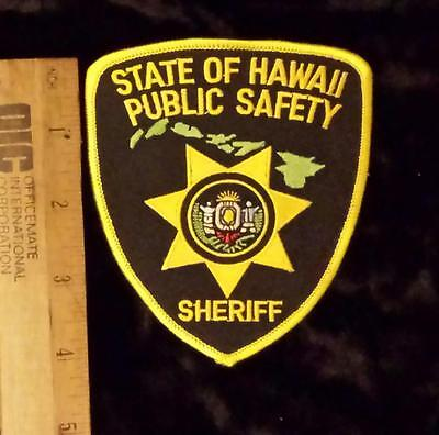 Vintage State of Hawaii Public Safety Sheriff's Department Iron/Sew on Patch