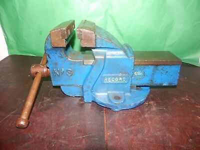 Vintage Record No 3 Engineers Bench Vice