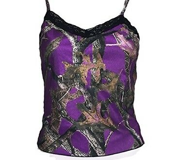 Weber Camo 601159-XL Women's Lace Trim Camisole Muddy Girl Black Lace X-Large