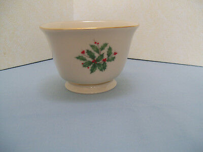 """LENOX SQUARE CANDY or TREAT DISH - """"HOLIDAY"""" Pattern - 4 1/4"""" x 2 1/2"""" - SEE PIC"""