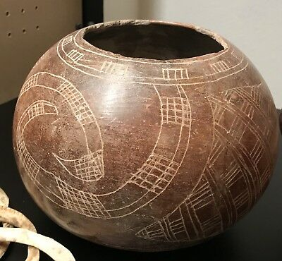Nice! Pre-Columbian -Colima Bowl beautiful graphics! West Mexico, 200 BC -200 AD
