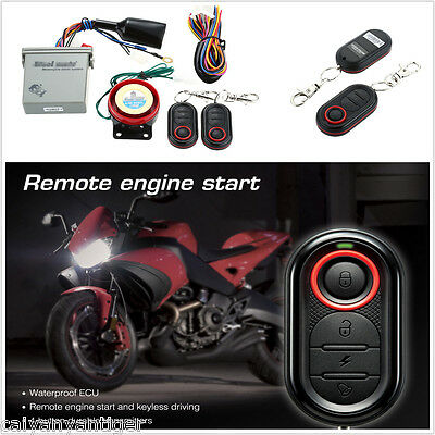 Motorcycle Scooter Remote Anti-theft Alarm Ignition System Engine Start Alert