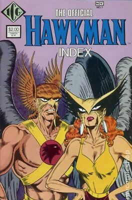Official Hawkman Index #1 1986 VG Stock Image Low Grade