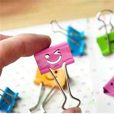 40 Colorful Metal Binder Clips Paper Clip 19mm Office Supplies Color Randomly LG