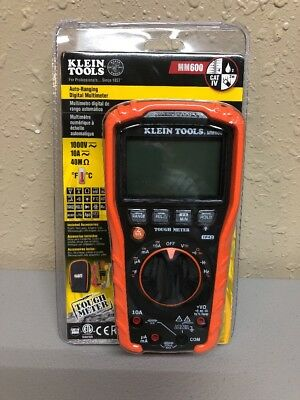 Klein Tools MM600 Auto-Ranging 1000V Digital Multimeter Multimeters Electric New