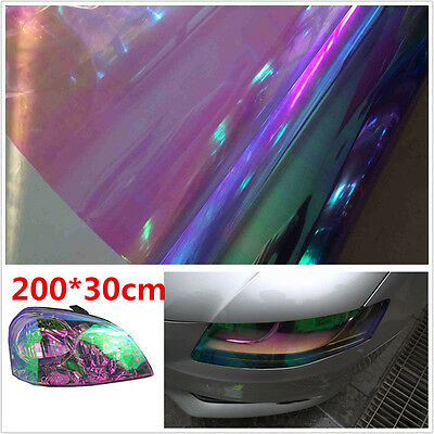 200x30cm Purple Colorful Chameleon Vinyl Tint Film Car Headlight Tail Fog Light