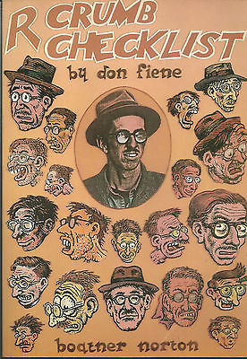 Out of Print - Paperback Book - R CRUMB CHECKLIST - Donald M. Fiene - 1981