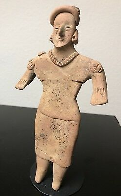 Pre-Columbian Colima -Mexico Gingerbread Woman, Flat Figure, 200BC -200AD Nice!