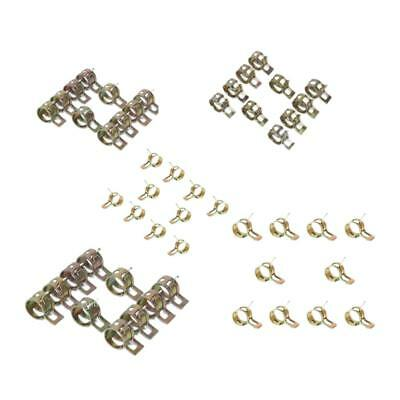 50Pcs 6-14mm 5 Sizes Fuel Line Hose Spring Clip Water Pipe Clamps Fastener