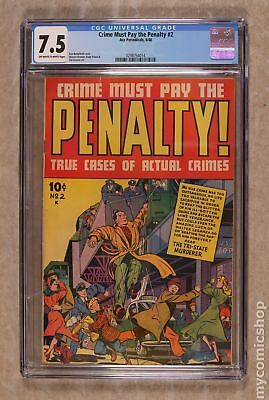 Crime Must Pay The Penalty #2 1948 CGC 7.5 0298754014