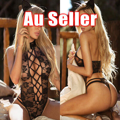 Women Sexy/Sissy Lingerie Lace Babydoll G-String One Piece Underwear Nightwear