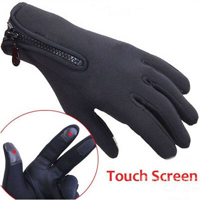 Outdoor Cycling Windproof Waterproof Touch Screen Warm Full Finger Glove Mittens