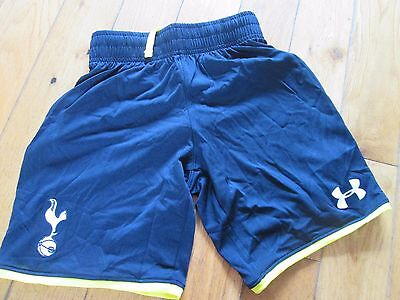 Under Armour New Mens Large Tottenham Football Shorts  Black Yellow Spurs