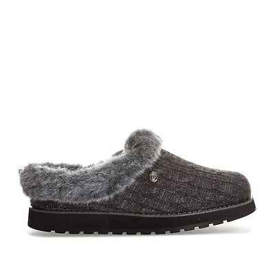 6a6a796cd102 WOMENS SKECHERS BOBS Keepsakes Ice Angel Slippers In Charcoal From Get The  Label - EUR 32