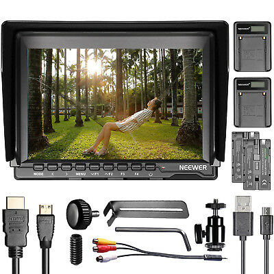 "Neewer NW759 7""HD camera monitor + 2*USB charger + 2*battery"