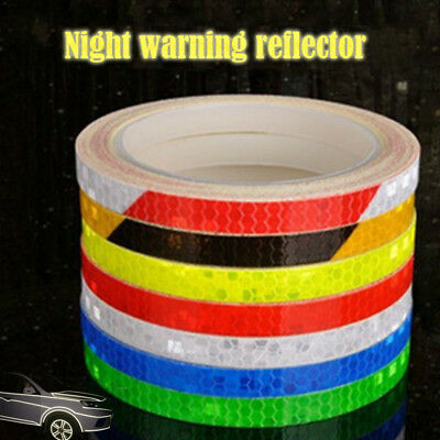 Sticker Safety Bicycle Reflector Fluorescent  Decal Tape Reflective Fashion