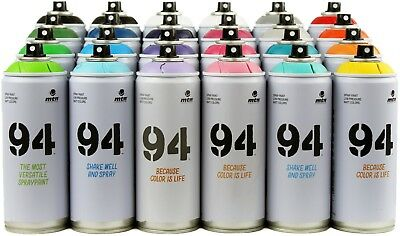 MTN 94 Spray Paint - 24 Pack - Aerosol Art Spray Paint Cans - 400ml