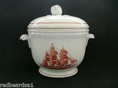 Wedgwood RARE Flying Cloud China Ice Bucket Georgetown Collection Red Jacket