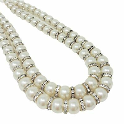 Pearl Diamante Curtain Tie Back Pairs Beaded Sparkle Hold Back Set of 2 Tiebacks