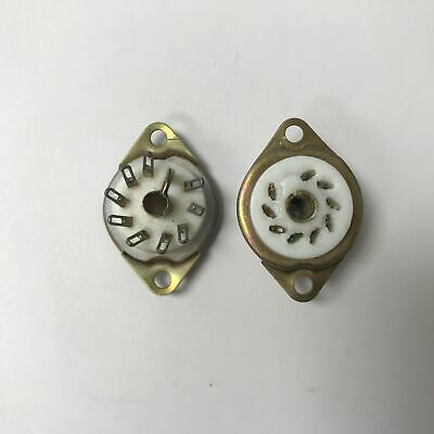 B9A British Chassis Mounting Ptfe Nos Valve/tube Base