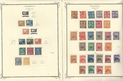 Nicaragua Collection 1862 to 1974 on Scott Specialty Pages, Around 130 Pages
