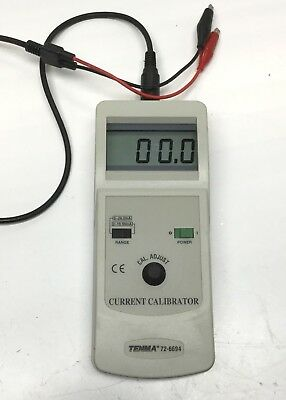 Tenma 72-6694 Current Calibrator, 0 to 24 mA, 5V Max, 500 ohm, 9V Battery