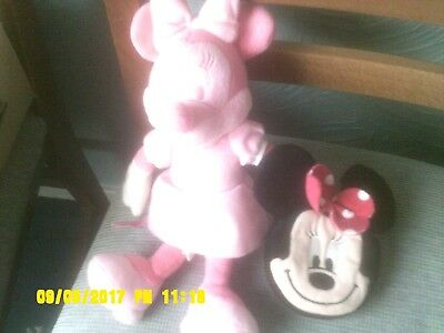 Minnie Mouse small  pink Plush Soft  Cuddly Toy  , minnie purse, good condition