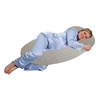 New 4Baby Pebble Grey 9Ft Cuddle Me Body & Baby Pregnancy Pillow Support Cushion