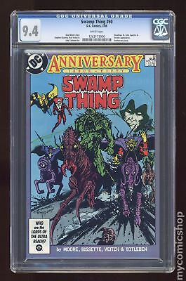 Swamp Thing (2nd Series) #50 1986 CGC 9.4 1263173006