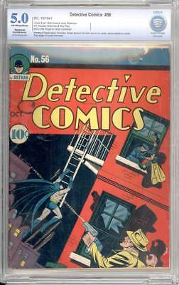 Detective Comics # 56  Kane/ Robinson cover !  CBCS 5.0 scarce Golden Age book !