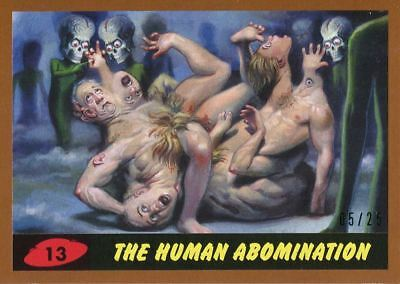 Mars Attacks The Revenge Bronze [25] Base Card #13 The Human Abomination