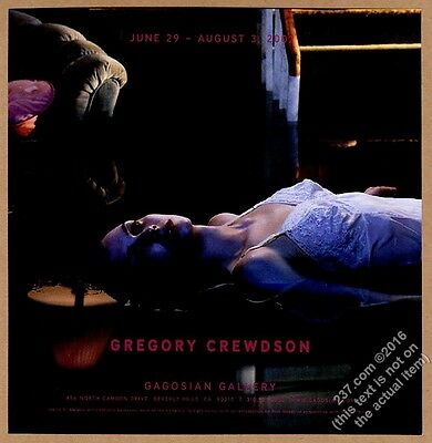 2002 Gregory Crewdson woman photo NYC gallery show vintage print ad