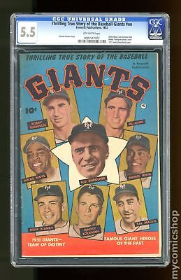 Thrilling True Story of the Baseball Giants (1952) CGC 5.5 0085547003