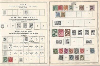 Nigeria Collection 1892 to 1971 on 10 Minkus Pages