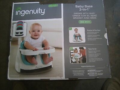 Ingenuity Baby Base 2 In 1 Seat – Peacock Blue