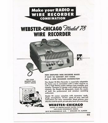 webster chicago wire recorder manual