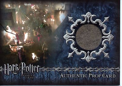 HARRY POTTER Goblet of Fire Burnt Quidditch World Cup Camp Site Card P5 #280/290
