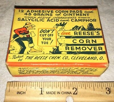 Antique Reese Corn Remover Medicine Box Farmer Crow Cleveland Ohio Pharmacy Drug