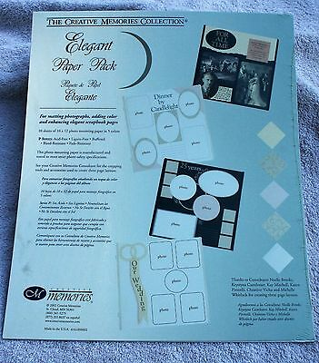 Creative Memories ELEGANT Printed Photo Mounting 10x12 Paper - NIP