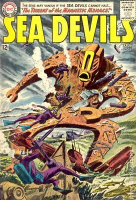 Sea Devils #12 1963 GD/VG 3.0 Stock Image Low Grade